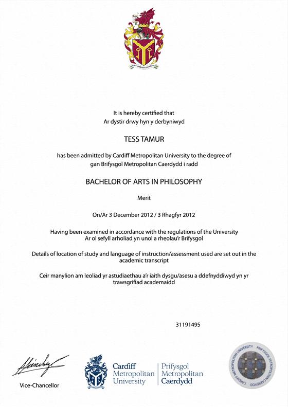 frame for degrees from cardiff metropolitan university | university