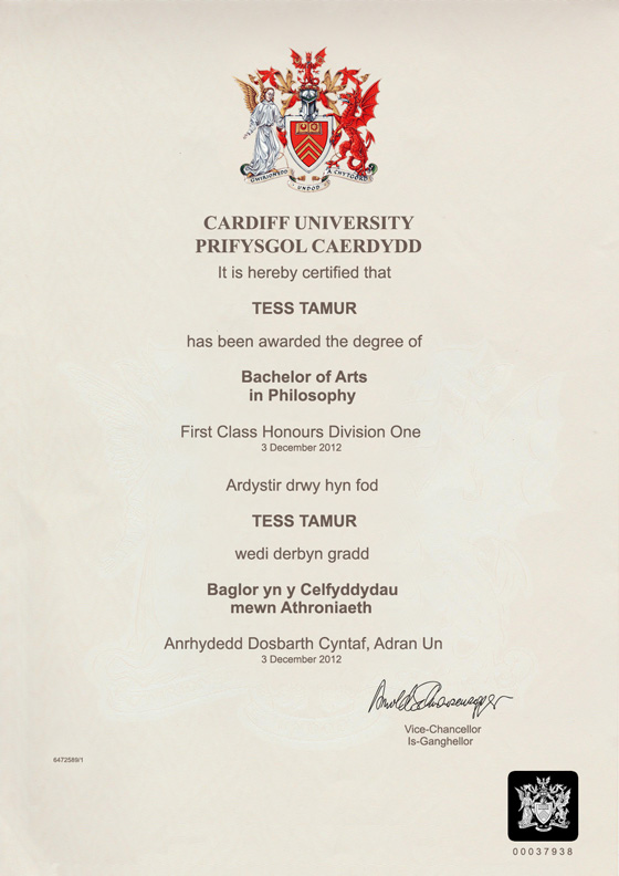 Law degree certificate template