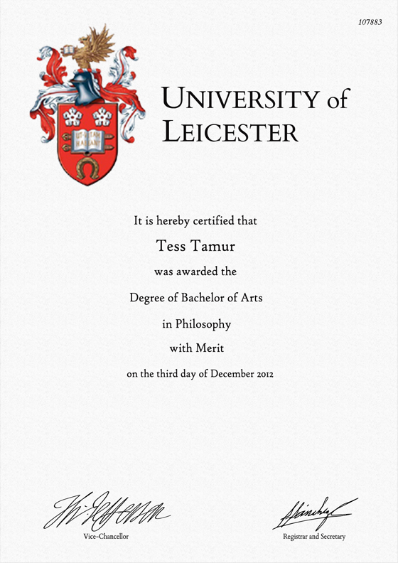 Frame for degrees from University of Leicester | University Degree ...