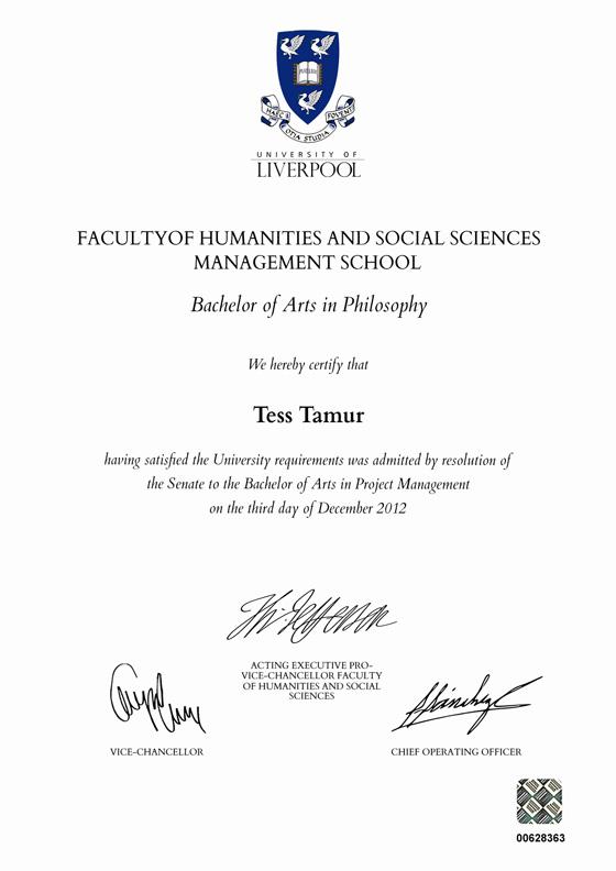 Frame for degrees from University of Liverpool | University Degree ...