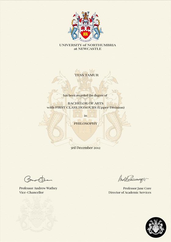 bachelor degree certificate