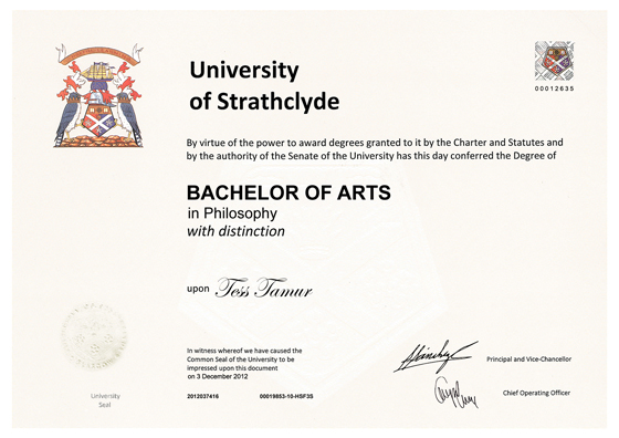 Frame for degrees from University of Strathclyde | University Degree ...
