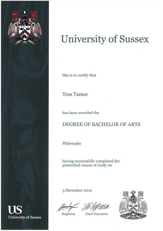 Frame for degrees from University of Sussex | University Degree Certificate  Frames